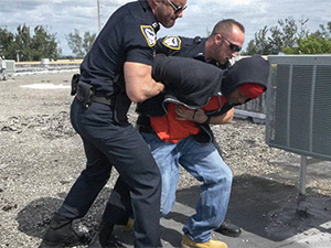 Apprehended Breaking and Entering Suspect gets to fuck the police image 1